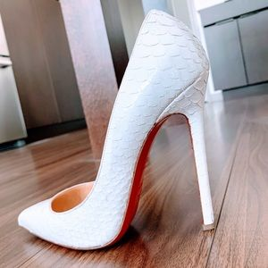 Christian Louboutin Pigalle Python Heels